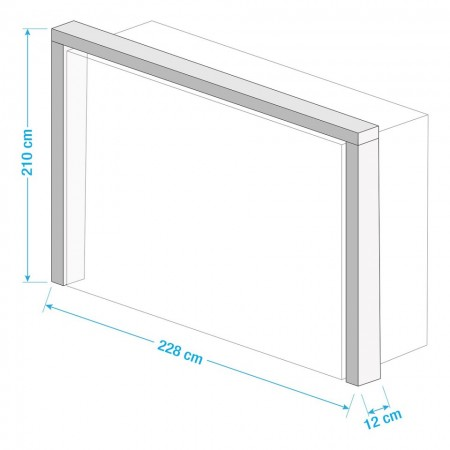 Rama pentru dressing Vanea, 228x212x12 cm, Pal, alb