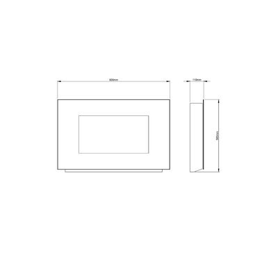 Semineu electric Azonto, negru, 58 x 90 x 11cm