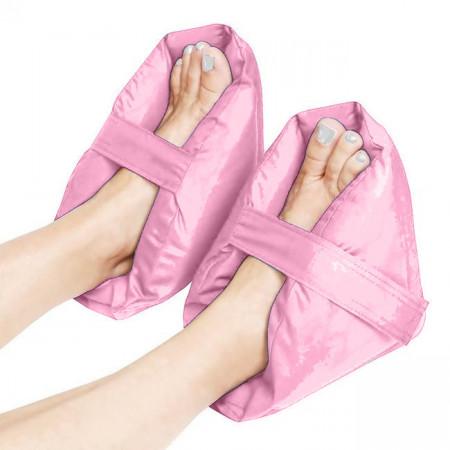 Set 2 pernute protectoare/relaxante pentru picioare, roz prafuit
