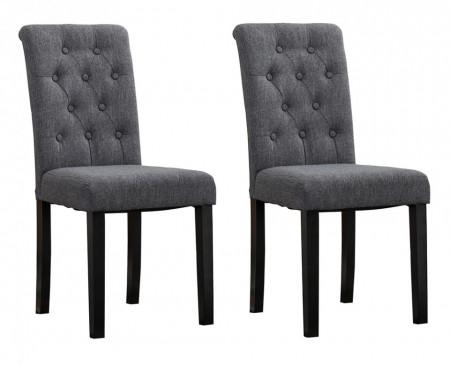 Set de 2 scaune Fabio, gri, 93 x 44 x 56cm