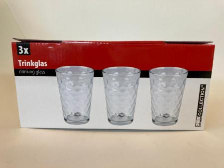 Set de 3 pahare pentru apa