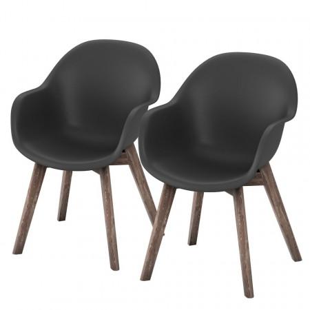 Set de 6 scaune de gradina Volcano, negre