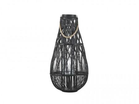 Suport pentru lumanari TONGA, lemn, negru, 39 x 39 x 77 cm