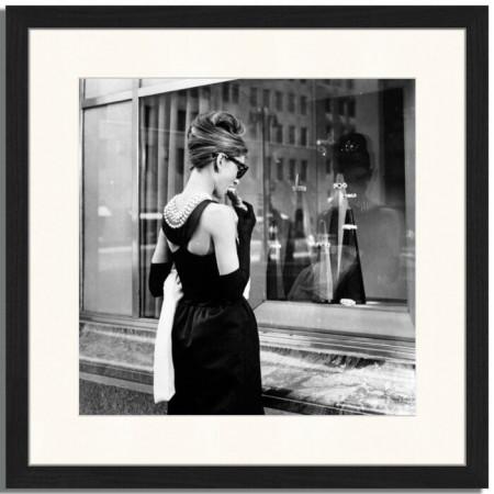 Tablou Audrey Hepburn, hartie, 43 x 43 x 2,5 cm