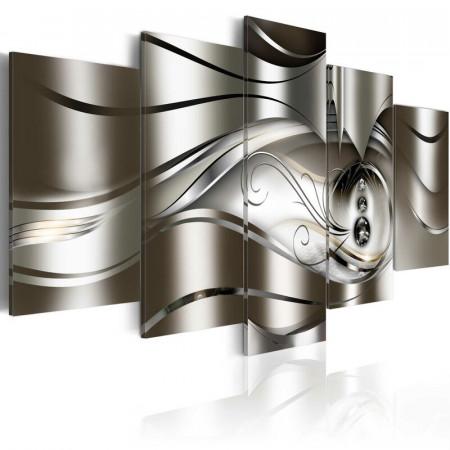 Tablou 'Diamond Drops' cu mai multe piese pe pânză, 100cm H x 200cm W x 1.4cm D