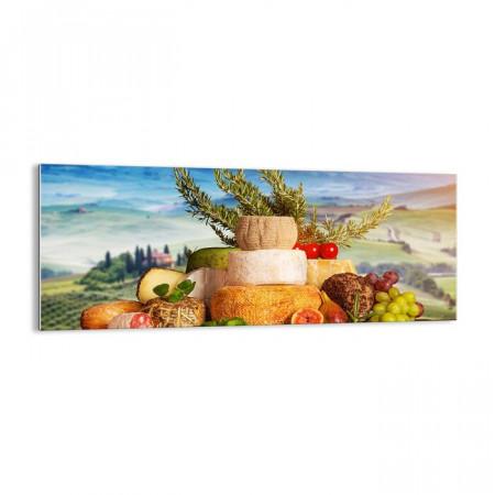 Tablou 'Italian Joy of Life', sticla, multicolor, 40 x 100 x 1,8 cm