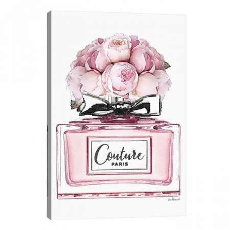 Tablou 'Short Perfume, Pink with Roses', 101,6 x 66 x 1,9 cm