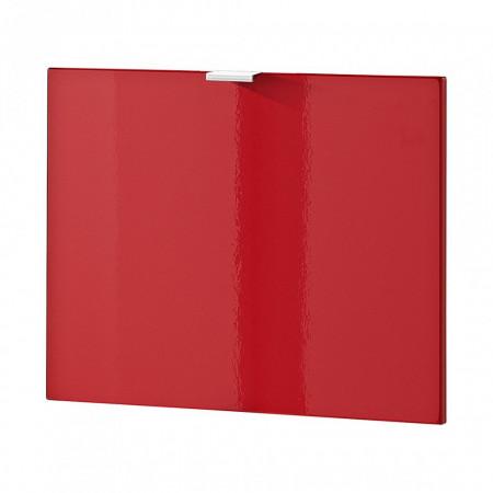 Usa de dulap Colorado MDF/aluminiu, rosu lucios, 52 x 41.5 x 1.6 cm
