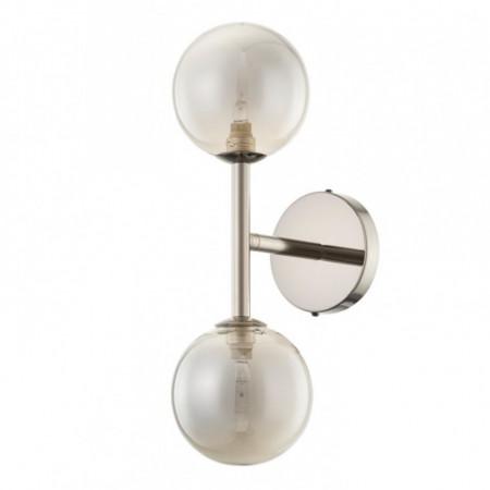 Aplica Kjul sticla/fier, 2 becuri, alb, 230 V