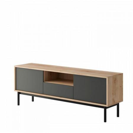 Comoda TV Cassidy, lemn, 154 x 57 x 39 cm