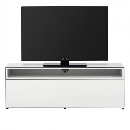 Comoda TV hülsta now easy, alb, MDF/plastic, 128 x 44.8 cm