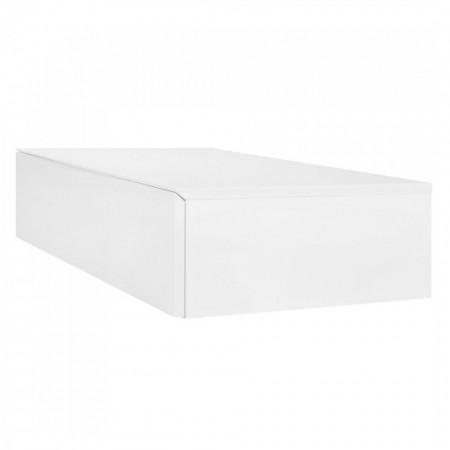 Comoda TV MiPuro II MDF, alb, 1 sertar, 80x20x50 cm