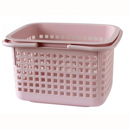Cos de rufe Rebrilliant Cestino, plastic, roz