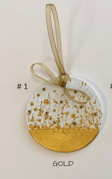 Decoratiune de craciun Gold Metallic, d 6.5cm