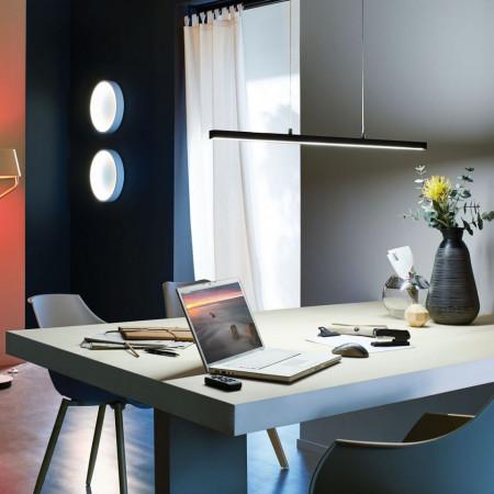 Lustra tip pendul LED Lento II aluminiu/sticla acrilica, negru, 1 bec, 230 V