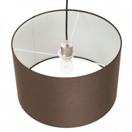 Lustra tip pendul Modis tesatura/fier, maro, rotund, 1 bec, diametru 40 cm, 240 V