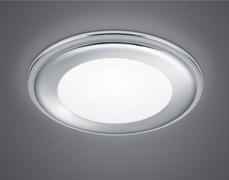Plafoniera Aura plastic, argintiu, 1 bec , diametru 15 cm, 230 V