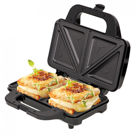 Sandwich maker XXL AD 3043 Adler negru/argintiu, 1300 W
