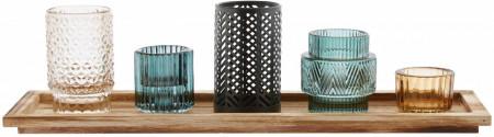 Set 6 suporturi lumânări Homa, diferite culori