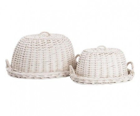 Set de 2 capace pentru alimente Annalise, alb