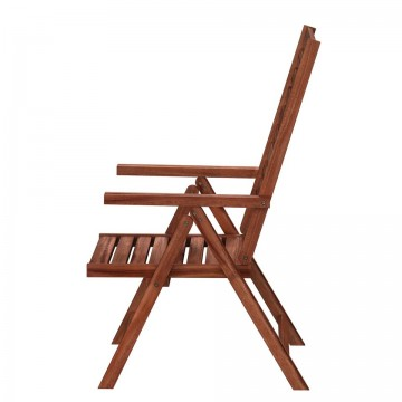Set de 2 scaune rabatabile Mimo I, lemn masiv de salcam