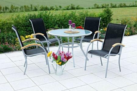 Set de 2 scaune Siena, aluminiu / textil