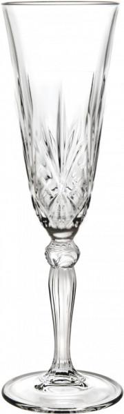 Set de 5 pahare pentru sampanie Melodia, transparente, 22 x 7 cm