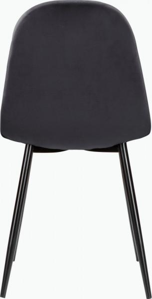 Set de living Monza Eadwine 5 piese (4 scaune si o masa rotunda), antracit/alb