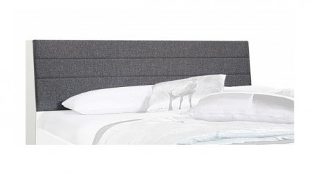 Tăblie de pat Scala III, 165 cm, Pal/ țesătura, alb, CU DEPOZITARE