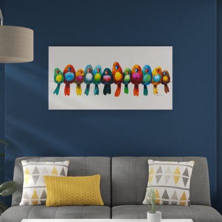Tablou Parada pasarilor 60 x 120 cm
