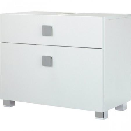 Dulap pentru baie, lemn, alb, 53 x 65 x 34,5 cm