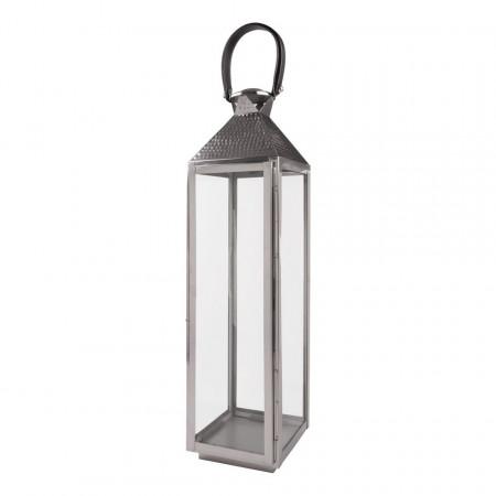 Lampa Medina otel inoxidabil, argintiu, 18 x 70 x 18 cm