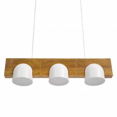 Lustra tip pendul Led Vica fier/lemn, 3 becuri, alb, 220 V, 24 W, 1800 lm