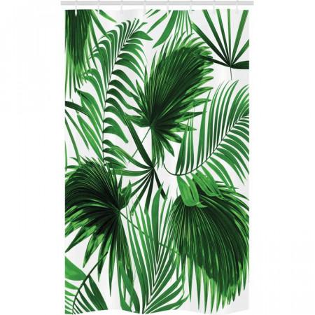 Perdea pentru dus Delafield, alba/verde, 180 x 120 cm