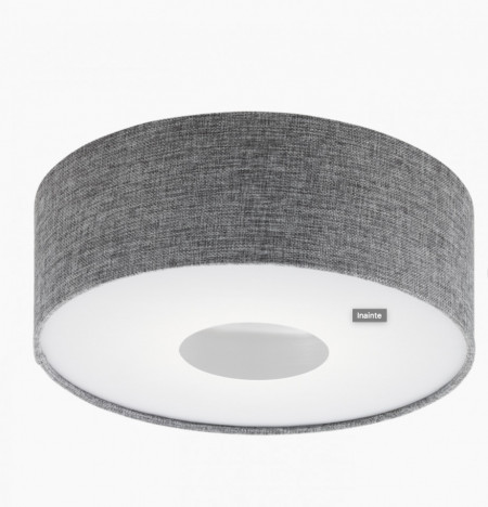 Plafoniera ROMAO Eglo, LED, metal/textil, 15.5W, 1600lm, gri-alb, diametru 35 cm, 1 bec