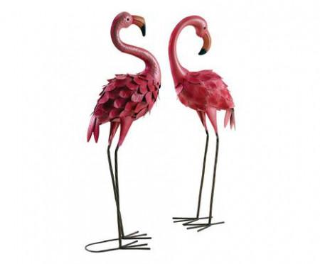 Set de 2 obiecte decorative Flamingo fuchsia