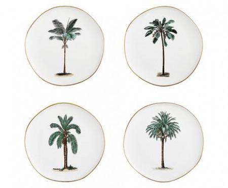 Set de 4 farfurii pentru micul dejun Palmieri