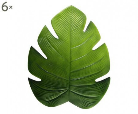 Set de 6 naproane Tropical verde