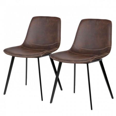 Set de 6 scaune Teini tapitate, espresso