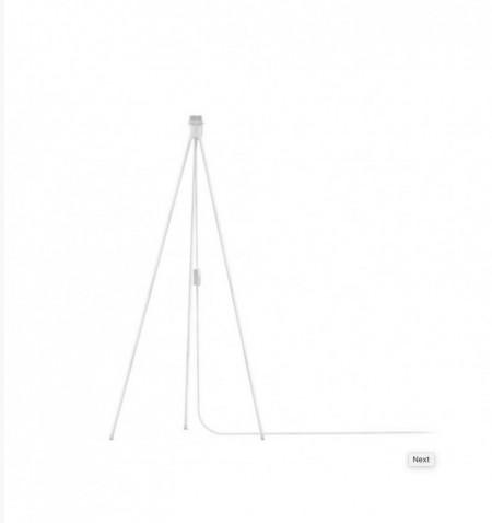 Stand pentru lampadar Tripod I alb, aluminiu/textile, diametru 66 cm