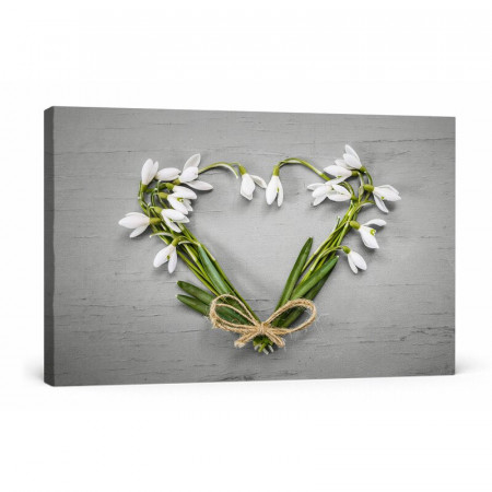 Tablou Inima din Flori 60 x 80 x 1.8cm