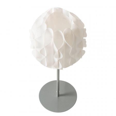 Veioza Harmoni plastic/otel, alb, diametru 19.5