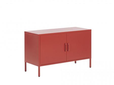 Buffet URIA, metal, rosu, 65 x 100 x 40 cm