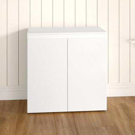 Comodă Acord, alb, MDF, 80 x 80 x 40 cm