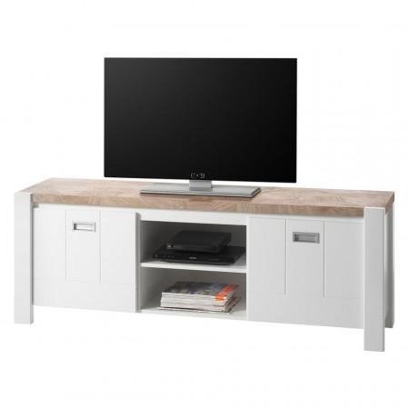 Comoda TV Evale Pal, alb, 160 x 58 x 41 cm