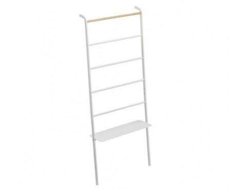 Cuier cu raft YAMAZAKI Tower Ladder, alb