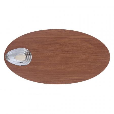 Lustra ventilator Wade sticla/lemn, maro, 1 bec, diametru 107 cm, 230 V