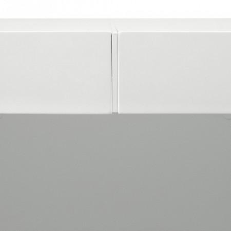 Masa Dusk, 130 x 130 cm, alb lucios