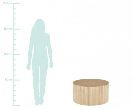 Masuta de cafea Nele cu spatiu de depozitare, D 70 cm