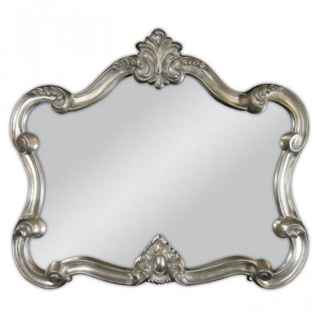 Oglindă de perete Clintonville, metal, argintie, 92 x 109 cm